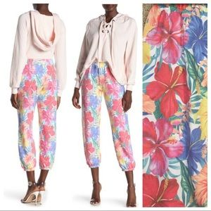 NWT! WILDFOX Tropical Floral Print Joggers